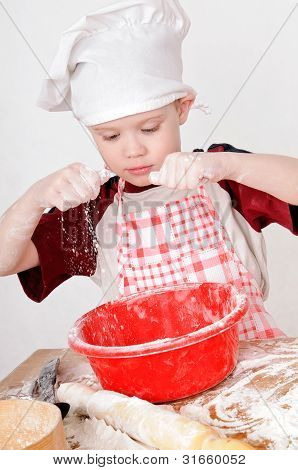 Boy With Flour