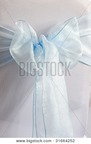 Blue And White Chair Cover