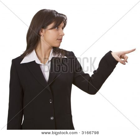 Woman Pointing To Something