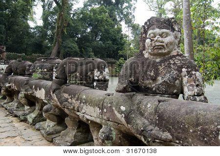 Asuras pulling Naga Statue, Angkor