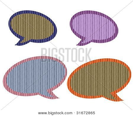 Textured Paper Speech Bubbles