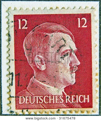 Adolf Hitler profile stamp