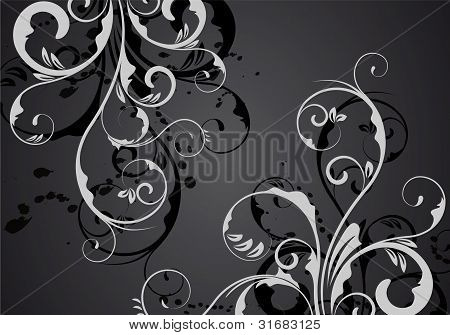 Black Vector Ornament Design