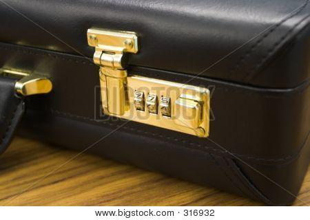 Closeup Of Briefcase: Lock In Focus