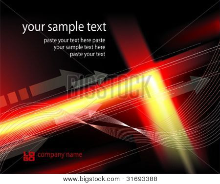 Abstract background black-red-yellow colored. Vector illustration
