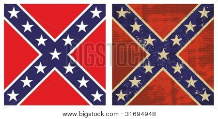 Confederate Battle Flag. Grunge Rebel flag.