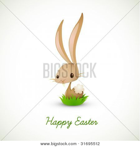 Easter Bunny Sitting in Grass   EPS 10 Vector Graphic   Layers Organized and Named Accordingly