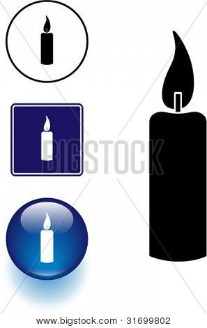 candle symbol sign and button