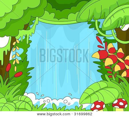 Illustration of an Undisturbed Rainforest