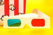 stock photo of matinee  - photo of 3d glasses - JPG
