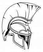 A Spartan, Trojan Or Roman Gladiator Greek Style Warrior Helmet poster