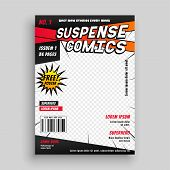Comic Book Publication Cover Page Design Vector Illustration poster