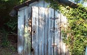 picture of outhouses  - This is an image of an old outhouse - JPG