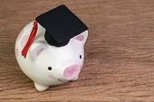 Education Fund, Scholarships, University Cost And Expense Or Saving For Student Loan Concept, Happy  poster