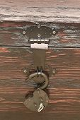 Lock With Key Inserted. Reliable Security. Retro. poster