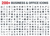 Set Vector Business Icons Glyph Set. Icons For Business, Management, Finance, Strategy, Marketing An poster