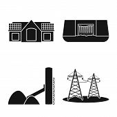 Vector Design Of Climate And Alternative Icon. Collection Of Climate And Nature Stock Symbol For Web poster