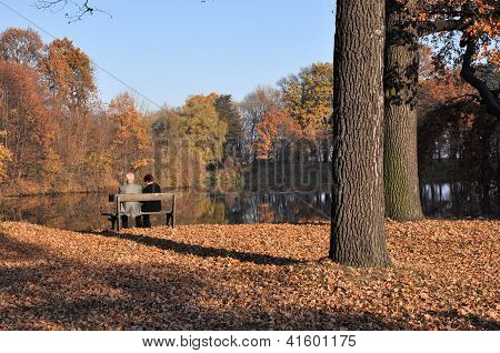 Old Couple In A Park