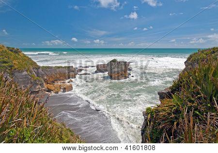 Ocean View Along A Rocky Coast