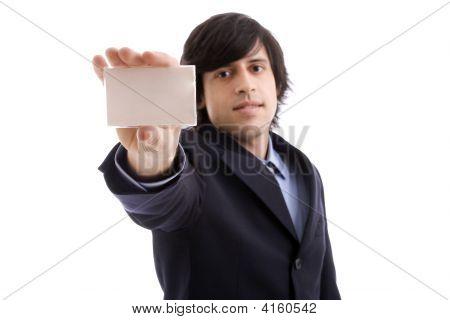 Businessman Offering Businesscard
