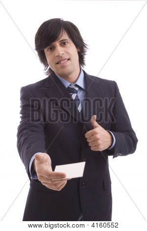 Businessman Offering Businesscard
