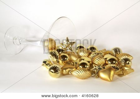 Spilled Golden Ornament Martini