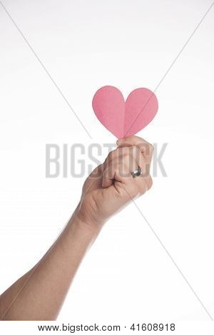 Man Holds Paper Heart