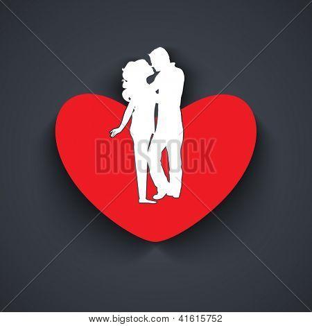 Beautiful St. Valentine Day fundo, presente ou cartão decorado com coração de papel vermelho. bonito