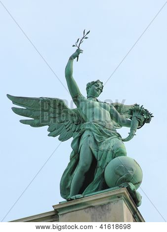 VIENNA, AUSTRIA - SEPTEMBER 3:Statue of Fortuna by Johannes Benk (1896) at Hofburg Palace in Vienna