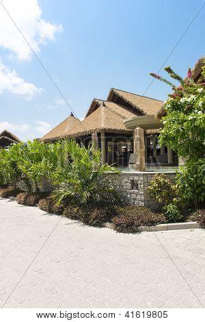Hotel On Tropical Beach, La Digue, Seychelles