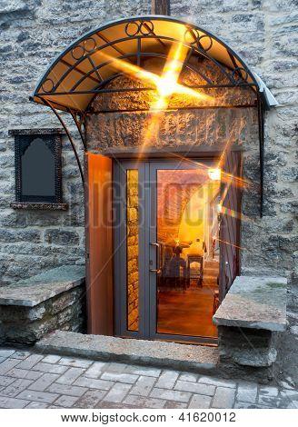 Illuminated Entrance