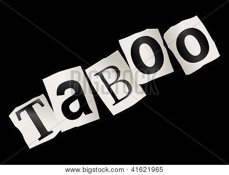 Taboo Concept.