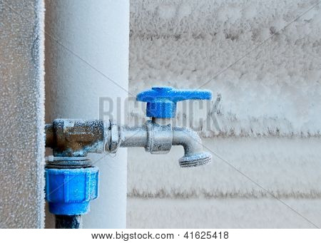 Frozen Faucet In Winter