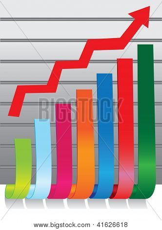 Colorful Stock Chart