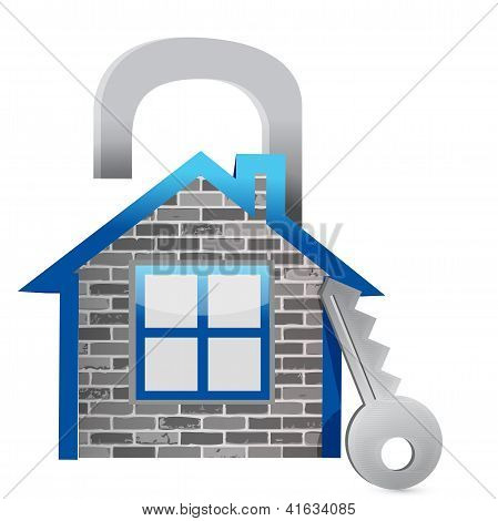 Demonstrating Poor Home Security Illustration