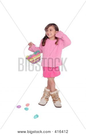 Girl With Easter Basket