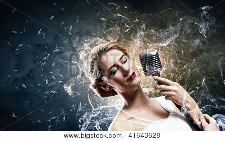 Female blonde singer