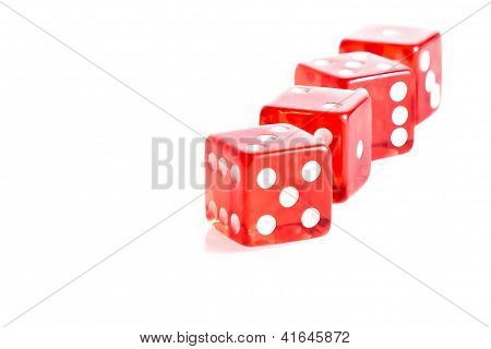 Four Red Dice In A Row