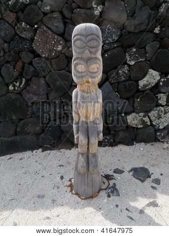 Small Tiki Statue on Big Island Hawaii