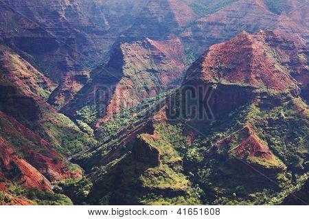 Waimea canyon,Kauai,Hawaii