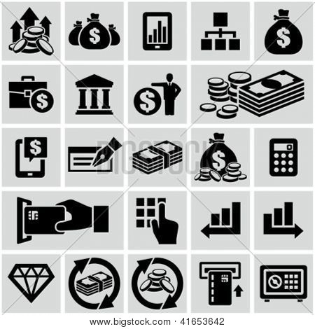 Finance & banking icons set.