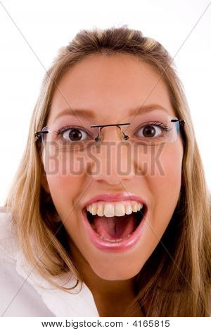 Close Up Of Happy Businesswoman