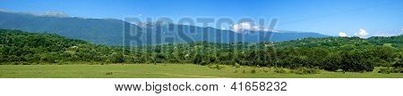 The mountains of Abkhazia. Panorama