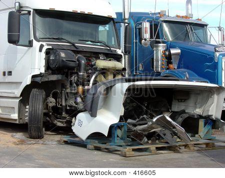 Wrecked Semi