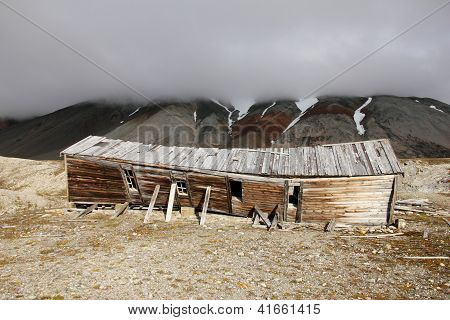 Abandoned house at Spitsbergen (Svalbard)