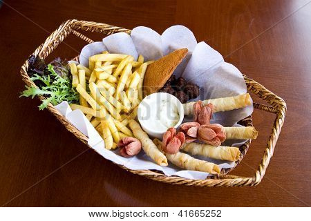 Tasty Nuggets With French Fries