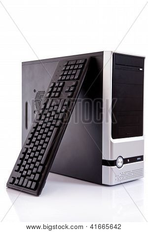 Computer With Keyboard