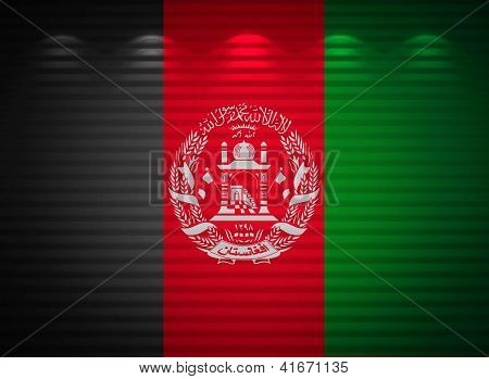 Afghani Flag Wall, Abstract Background