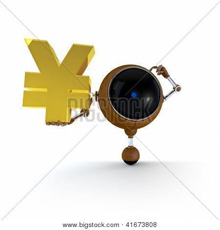 Robot Keep  Japan Yen Sign