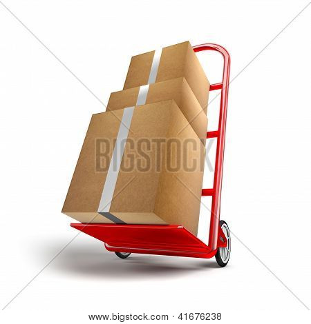 Shopping Trolley With Packages